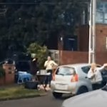 Maskless 'Karen' pulls the plug on a neighbourhood concert as two locals entertain amid lockdown