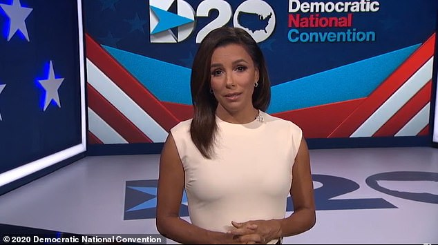 Actress Eva Longoria kicked off the Democratic National Convention Monday night with opening remarks claiming this is 'the most important election of our lifetimes'