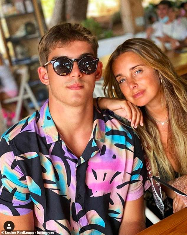 Chic: 16-year-old Charley clearly inherited her mother's fashion boom by opting for an eye-catching palm print shirt and a pair of on-trend shades