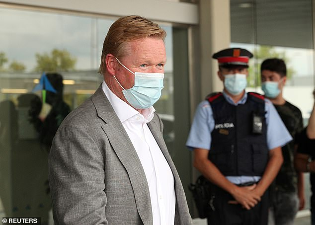 Ronald Koeman has arrived in Barcelona as he prepares to be named as the club's new boss