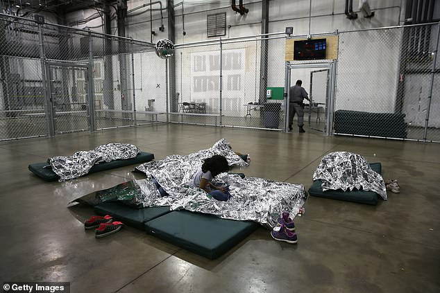 The images were taken inMcAllen, Texas, at a detention facility when Obama was president