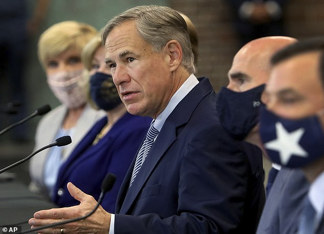 Greg Abbott, pictured Tuesday in Fort Worth, announced a proposal to discourage defunding