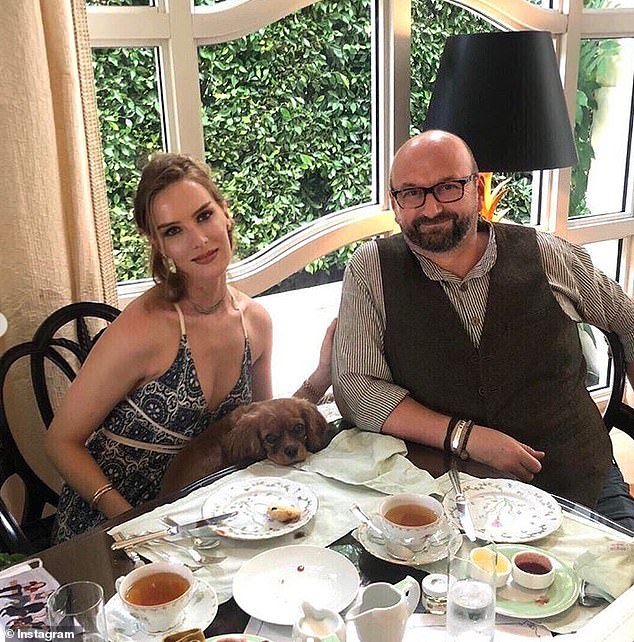 Kirk is pictured with her current boyfriend, British director Neil Marshall