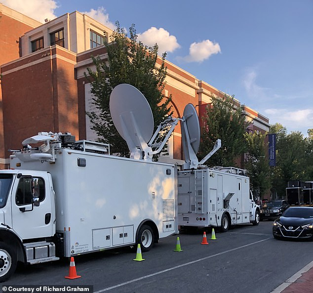 Satellite trucks and security began being installed outside the American Revolutionary Museum in Philadelphia, Pennsylvania on Tuesday.  The Associated Press confirmed on Wednesday that the museum was the site of Obama's speech