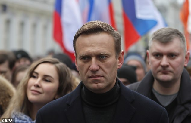 Navalny (archive image) was on a flight from Tomsk to Moscow when he suddenly fell ill, forcing the plane to make an emergency landing in Omsk