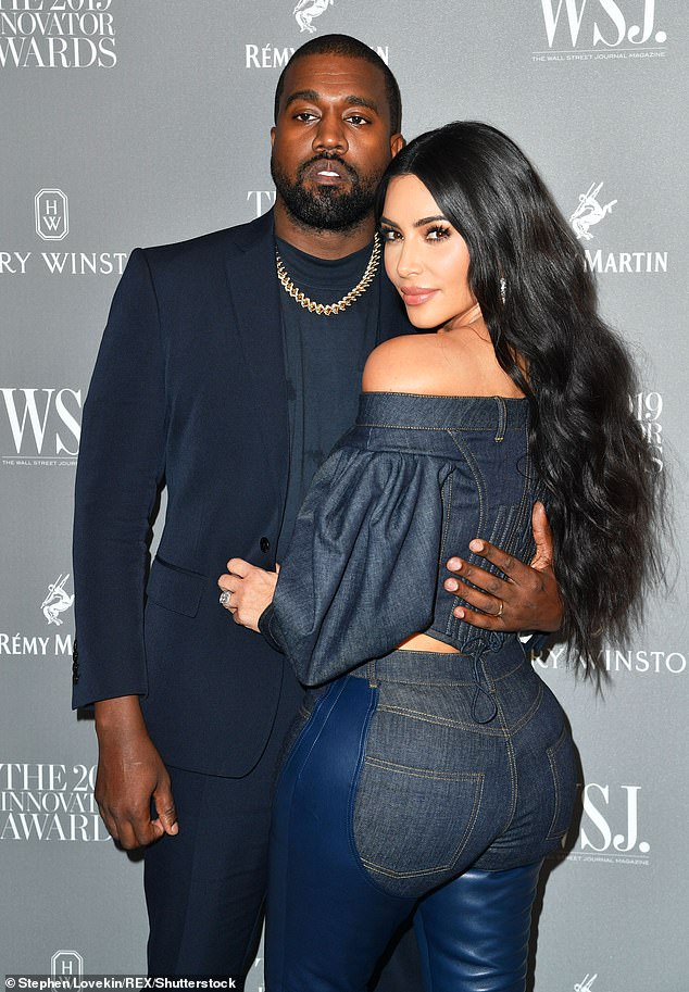 Trouble in paradise: Amid his political venture, Kanye has been enduring an increasingly strained time in his marriage with wife Kim, 39