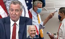 NYC Mayor Bill de Blasio doubles down and insists schools will reopen next month – a day after teachers threatened to strike over his COVID-19 testing plan