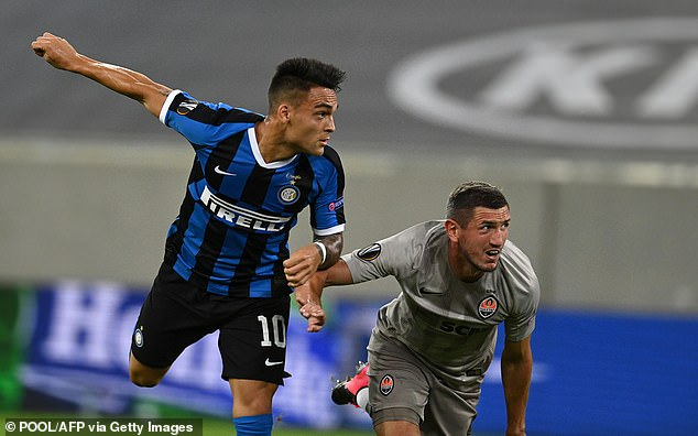The 22-year-old netted twice as Inter thumped Shakhar Donetsk 5-0 in the semi-final