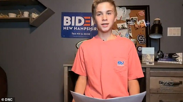 Joanne Rogers said she was moved by the story of Brayden Harrington, 13, who appeared during last month's Democratic National Convention and read a speech about meeting Joe Biden and getting advice about how to manage a stutter