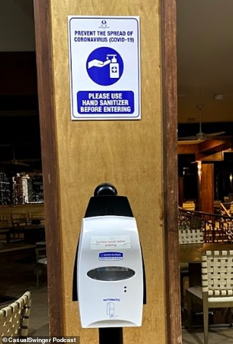 Hand sanitizer dispensers have also been installed all over the venue for easy access