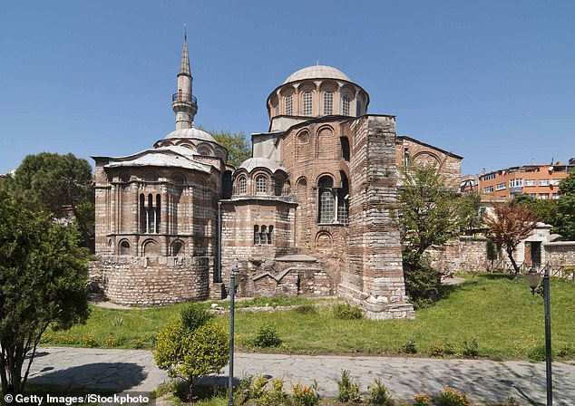 Pictured: The Kariye Museum, or Chora Church, in Istanbul, Turkey, will be converted into a place of Muslim worship by order of President Erdogan. The change was announced on Friday