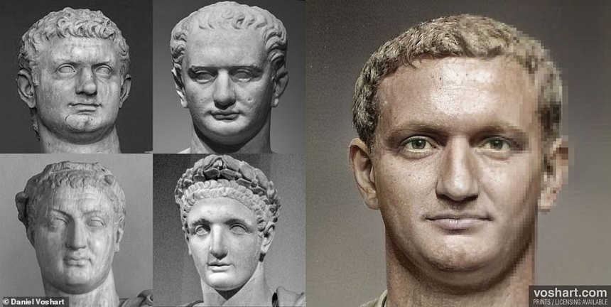 Pictured: Domitian. Clockwise from top left: At The Vatican, Altes Museum in Berlin, The Louvre, and the Archeological Museum in Venice