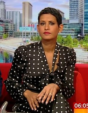 Naga Munchetty filled in for 12 weeks in early 2017