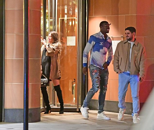 Pogba has stayed in England and went to Cipriani restaurant in Mayfair on the weekend