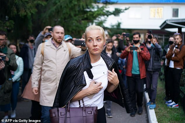 His wife Yulia Navalnaya made an appeal to Vladimir Putin to permit Mr Navalny's medical evacuation to Germany afterRussian health authorities initially said he was too ill to fly