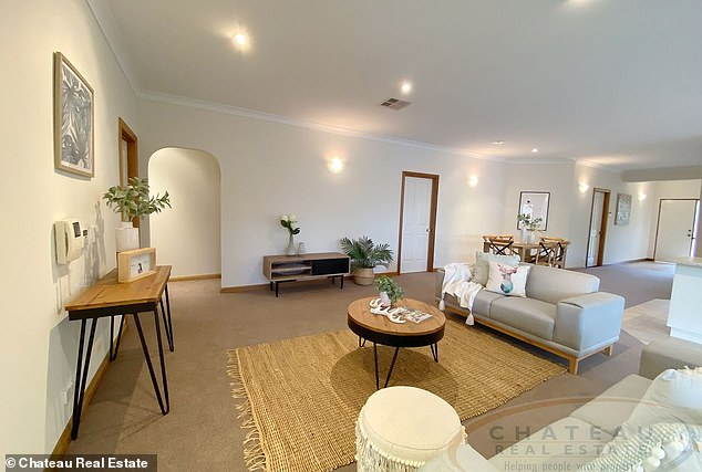 Realtors have described Ms Smith's home as 'light, bright and airy' and 'the perfect base for work and play'