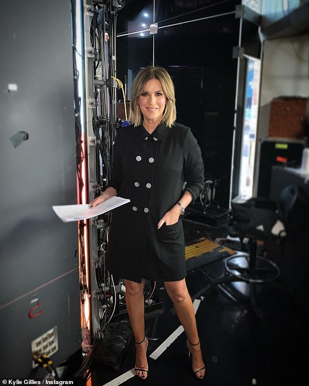 Heartfelt: The Morning Show's Kylie Gillies, 53, (pictured in an Instagram post) also said in the tribute:'We're going to miss Mel terribly, but you know what? It's going to be the viewers who miss her the most. They love her as much as we do'