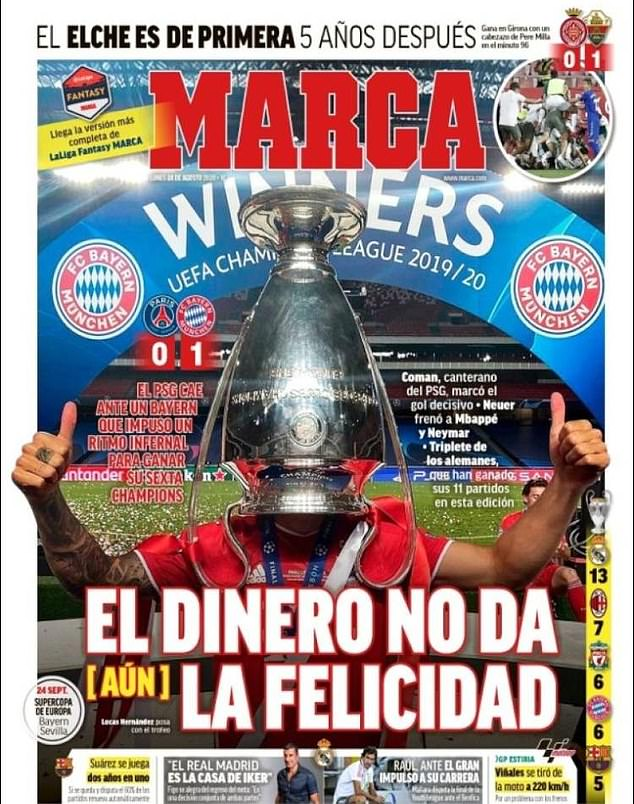 In Spain, Marca note that for all of PSG's financial wealth they are still yet win the holy grail
