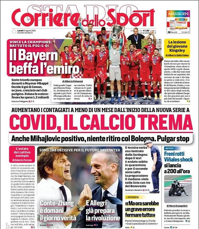 Corriere dello Sport in Italy notes the contribution of Coman - who used to play for Juventus