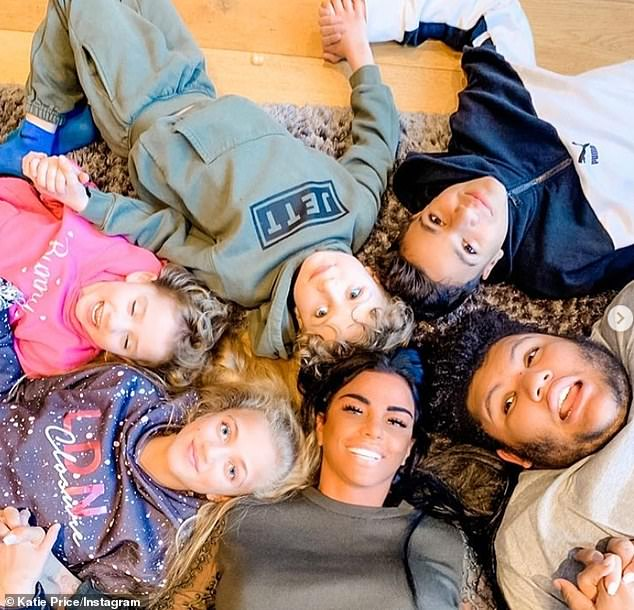 One big family: He shares his teenage children with his ex-wife Katie Price, who is also the mother of Harvey, 18, Jett, seven, and Bunny, six, from other relationships.