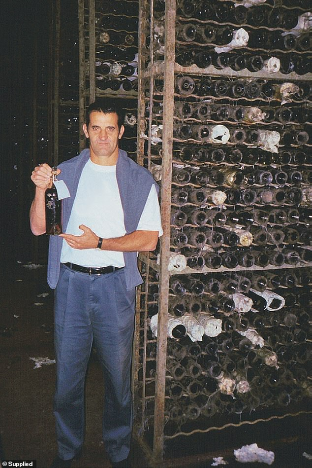 Two decades ago John Baker got a tip about a mythical wine collection said to have been assembled by the last tsar of Russia, and later fallen into the hands of Soviet dictator Josef Stalin. Baker is pictured in the cellar where those wines were hidden for six decades