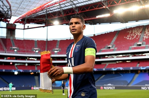 Thiago Silva could be handed the captain's armband by Frank Lampard if he joins Chelsea