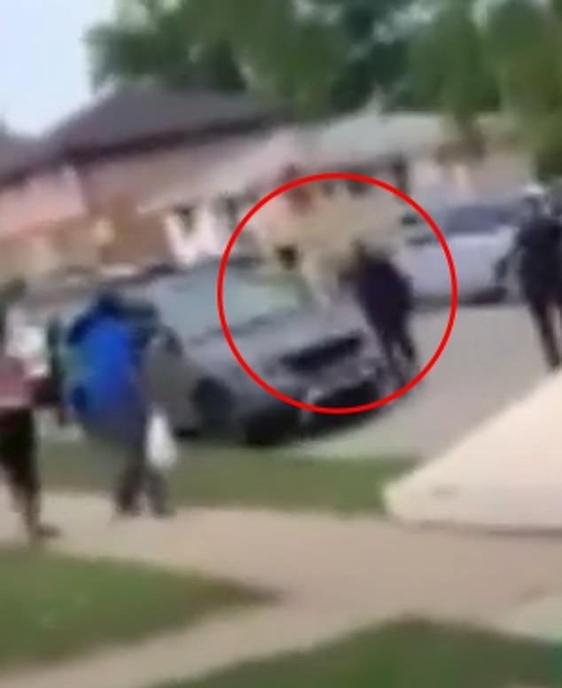 Within moments, after Blake opens the door, gunshots are heard and the video footage ends