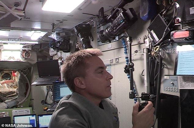 On May 15, young members of the Airdrie Space Science Club in Alberta used a ham radio to connect with NASA astronaut Chris Cassidy (pictured), who was conducting experiments aboard the ISS
