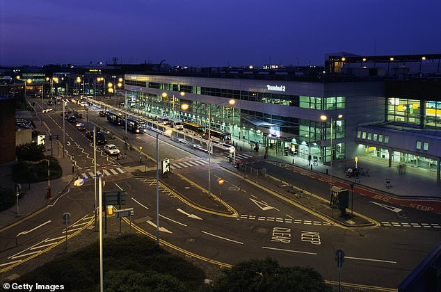 Heathrow Airport (pictured) may soon reopen flights to New York for London tourists keen to see the Big Apple
