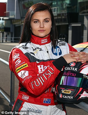 Having previously been forced to hide her sprawling tattoo collection beneath a racing uniform, Renee is now enjoying the freedom to show off her ink online. Pictured in October 2015