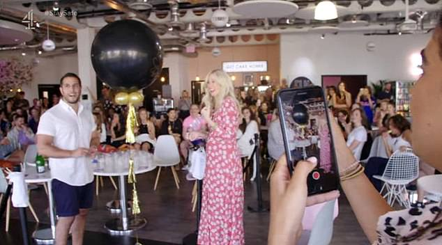 In last night's episode of Channel 4's Inside Missguided, staff threw a gender reveal party forhead of buying Victoria, and Tom, merchandising manager (pictured)