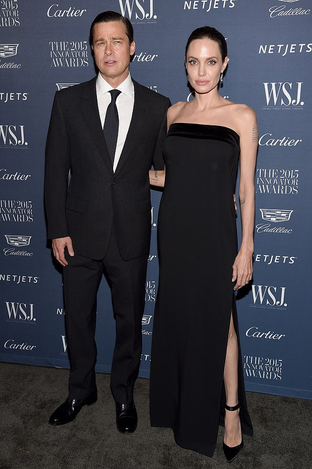 Bitter: Angelina and Brad started dating in 2005 and tied the knot in 2014, though they didn't separate until two years later.  The happy couple seen here in 2015