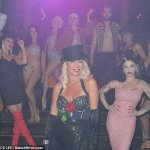 Denise Van Outen makes a glamorous exit after performing in Cabaret All Stars show