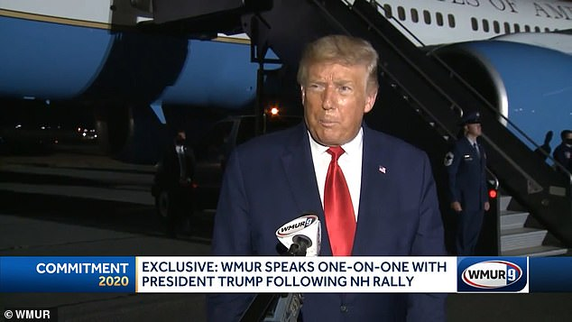 'It was not a good sight. I didn't like the sight of it, certainly. I think most people would agree with that': Trump gave his first remarks on the shooting of Jacob Blake during an interview with WMUR on Friday