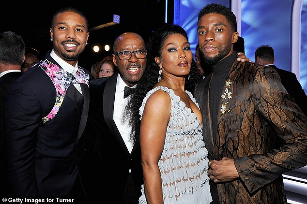 In memory: Boseman's Black Panther costars have paid tribute to the late actor, who won acclaim for his role as King T'Challa in Marvel's revolutionary superhero film; seen in 2019