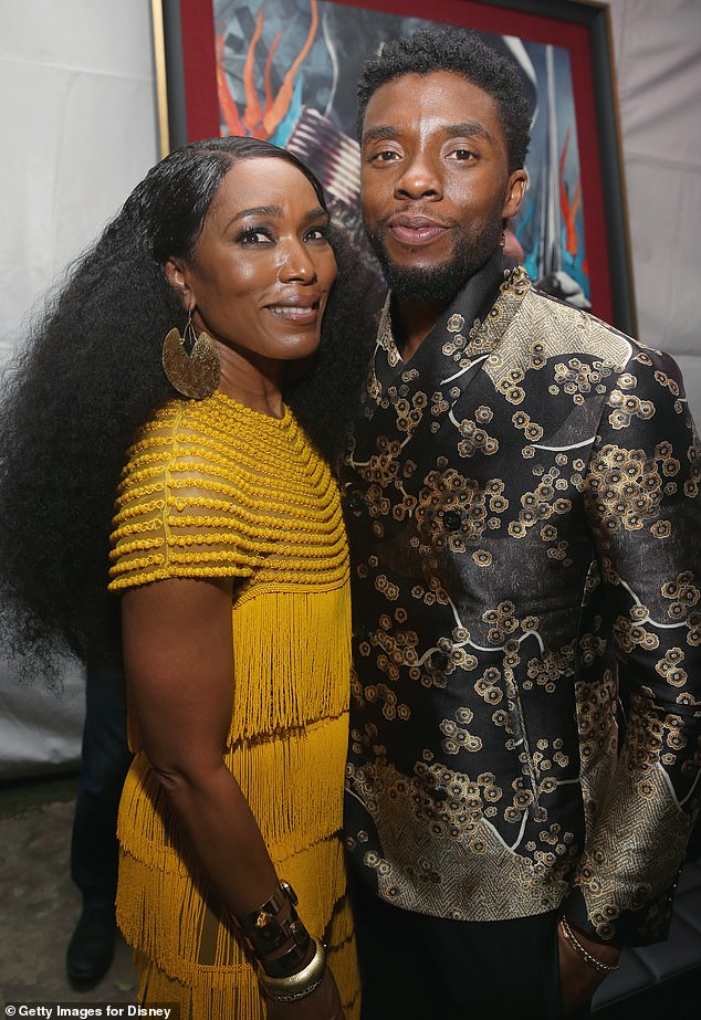 'Full circle' friendship: Angela Bassett, who played T'Challa's mother Ramonda, reflected on her 'full circle' friendship with the 43-year-old star (seen in 2018)
