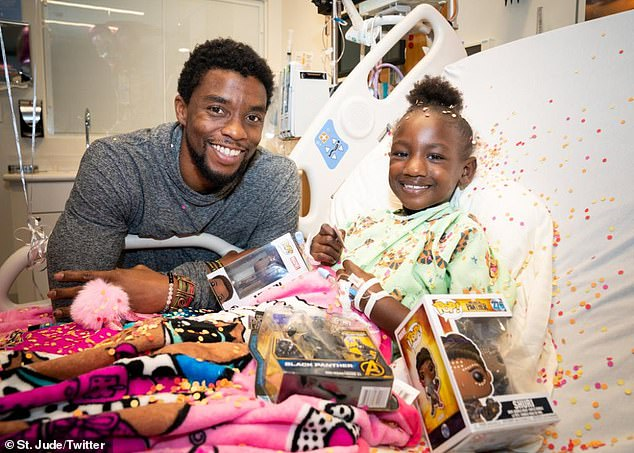 Giving back: Chadwick Boseman, who died Friday at 43, delighted children at St. Jude Children's Research Hospital when he visited in 2018