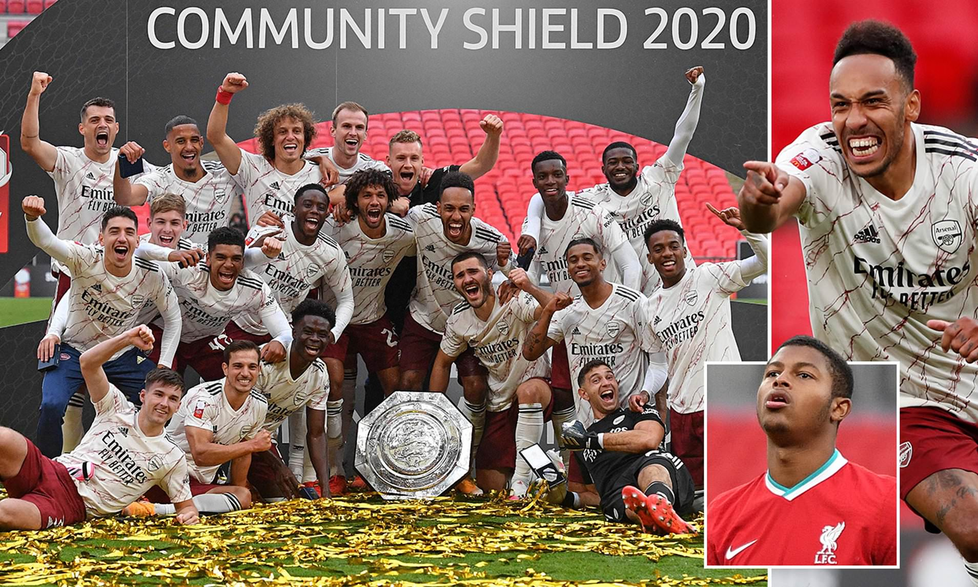 Arsenal 1-1 Liverpool (5-4 on pens): Gunners win the Community Shield | Daily Mail Online