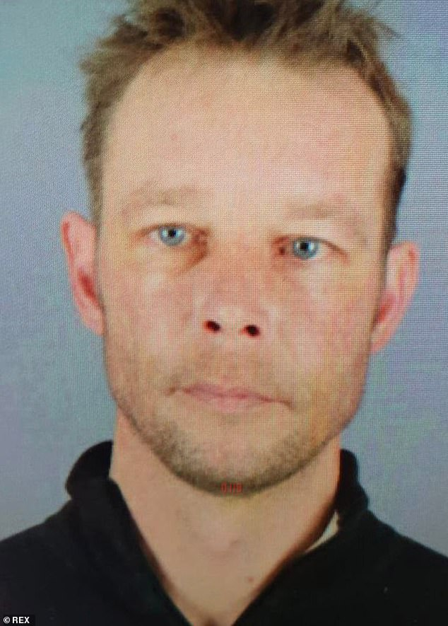 A former girlfriend of Christian Brueckner, 43, (above) said she lived in fear of his release from prison after he served a sentence for sexually assaulting her five-year-old daughter