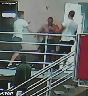 The video was reportedly taken at Port Phillip Prison in Melbourne's west.