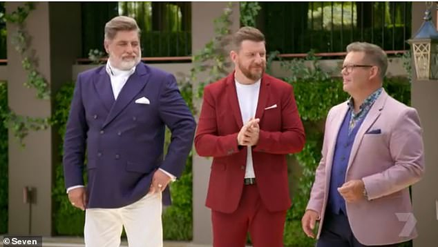 Oh no:Plate Of Origin premiered on Sunday night and it received mixed reviews. Fans vented on Twitter, with many calling it a 'boring' cross between My Kitchen Rules and MasterChef. Pictured judges Matt Preston, Manu Feildel and Gary Mehigan