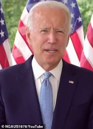 Former Vice President Joe Biden (above) has just a six-point edge over President Trump, according to the latest Yahoo News-YouGov survey