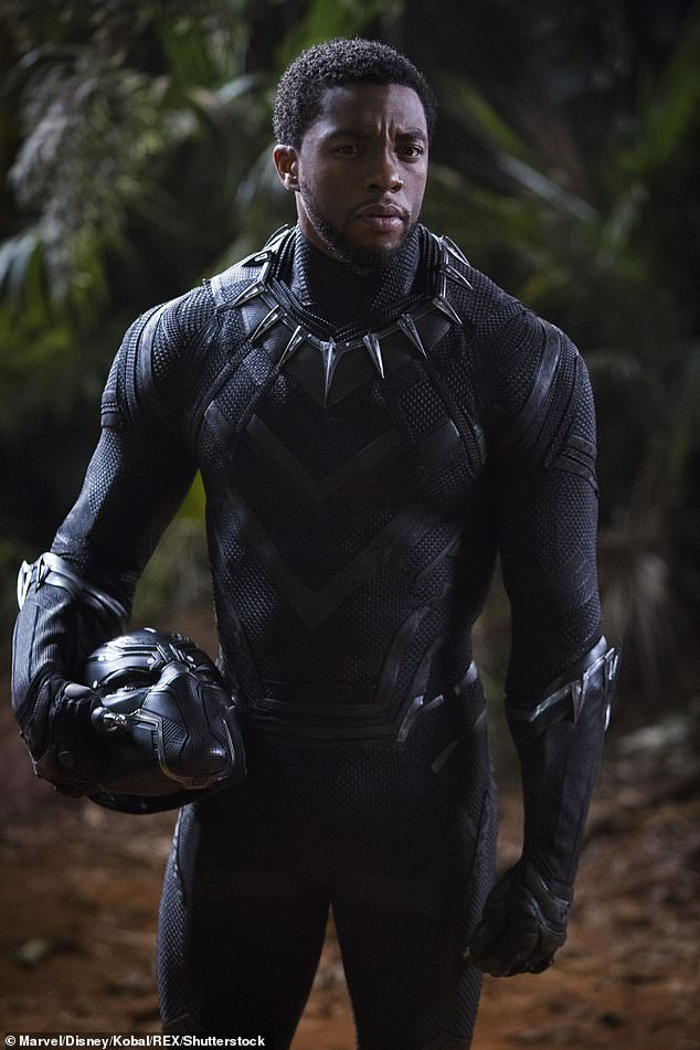 """So excited:'""""They not ready for this, what we are doing¿,""""' he remembered the star saying on set. '""""This is Star Wars, this is The Lord Of The Rings, but for us¿ and bigger!""""'; still from Black Panther"""