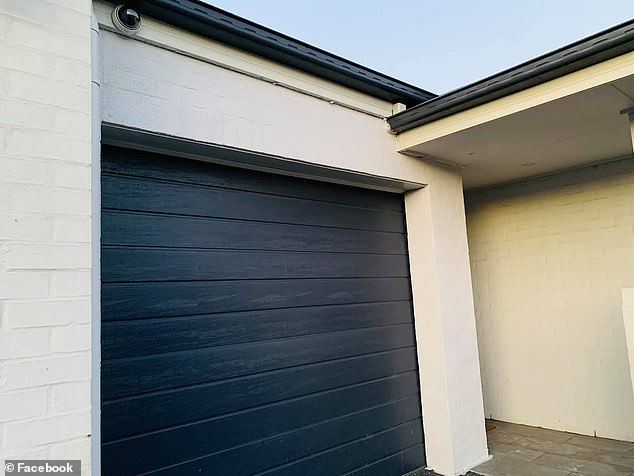 She took matters into her own hands armed with $45 worth of tools from Bunnings and paint left over from a recent renovation - with impressive results (pictured)