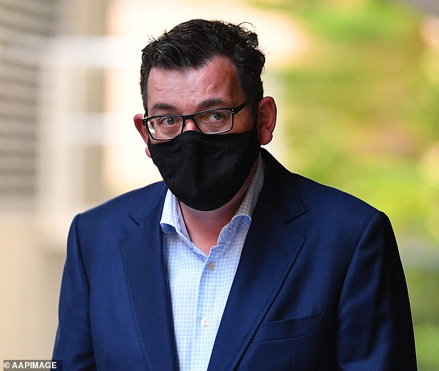 Daniel Andrews (pictured today) has been accused of 'decimating' Victoria after it emerged an extra 30,000 residents lost their jobs due to the state's second coronavirus lockdown