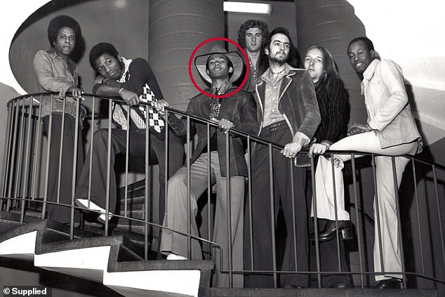 Philippa, a nursing student, asked Coley (circled) to come to her in Sydney but he stuck with his career in a decision he has regretted for the rest of his life