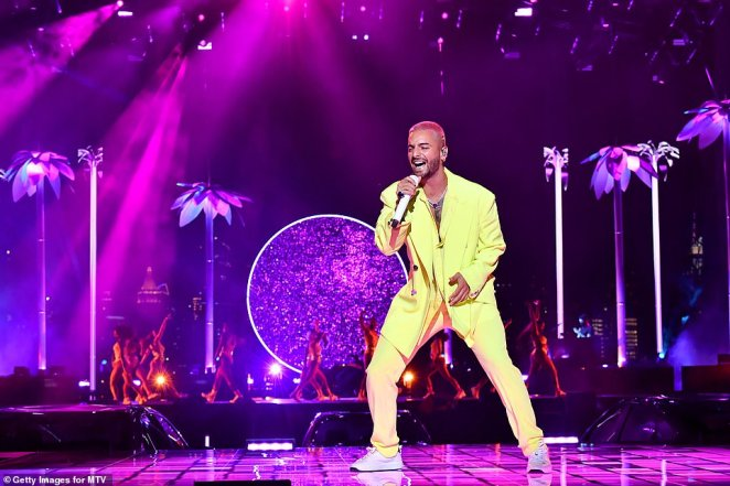 He's got the moves: Colombian singer Maluma pulls off another impressive socially-distanced performance