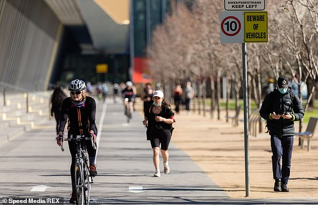 Melburnians (pictured on Saturday) remain in Stage 4 lockdown until at least September 13