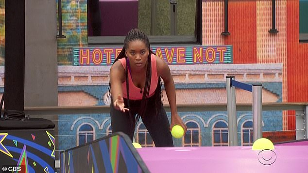 Bayleigh:Bayleigh says she wants to win to prove to her alliance that she can be trusted, as Christmas just missed landing her third ball