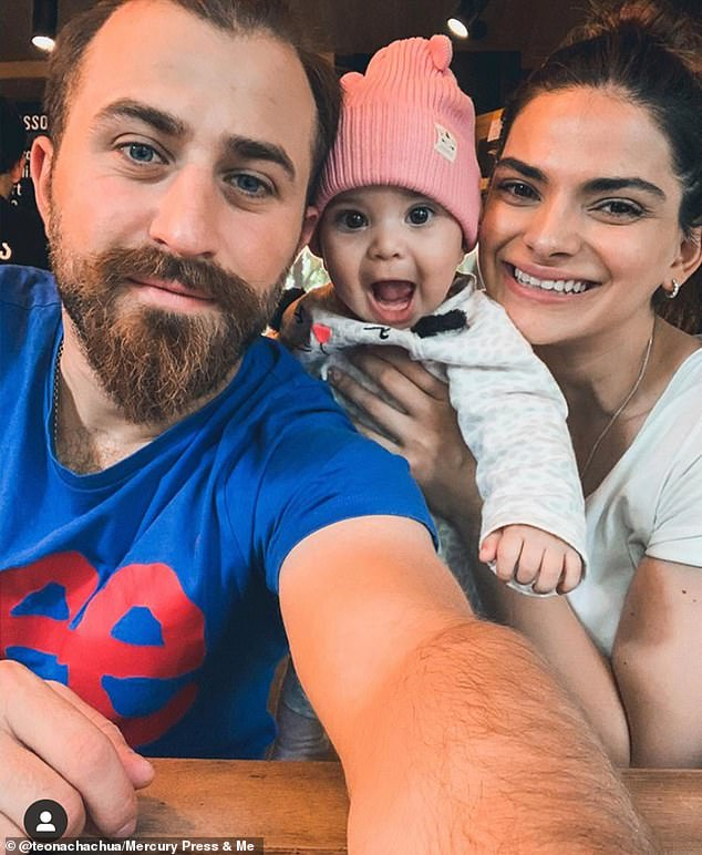 Mother-of-one Teona (pictured with her husband and their daughter Keira, one) who measures up eight inches shorter and is five years older than the celebrity, was left shocked when people started stopping her in the street to tell her she looks like Kendall